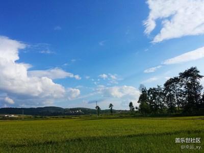 乡村的天空,寂静的村庄,新鲜的空气,有着独特的魅力