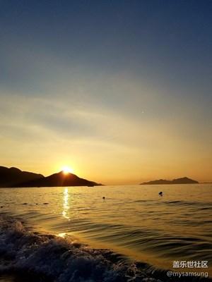 带着S7 edge去深圳西冲金海湾看日出