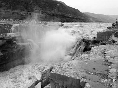 【黑白影像】+山西-临汾-吉县+黄河壶口瀑布