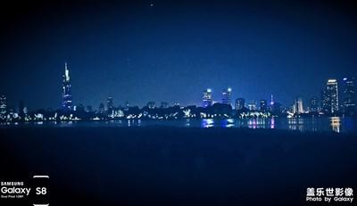 南京夜景:玄武湖 / 白鹭洲公园 / 水街