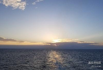 拍才知道 海上日落