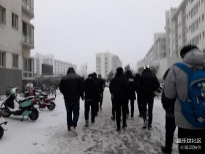 我的世界开始下雪!