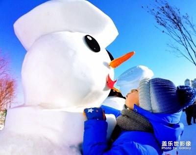 冰雪人与孩子有个约会
