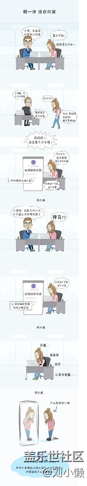 【刘小懒漫画系列】第一弹: 拯救驼背