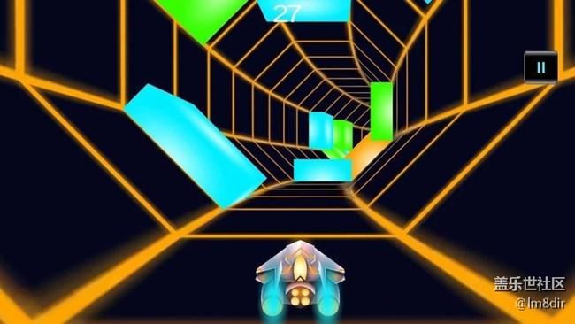 对比隧道3D v1.4 高速避开无尽的隧道中的障碍物