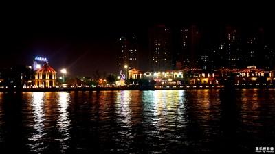 入夜的海运堤美食街