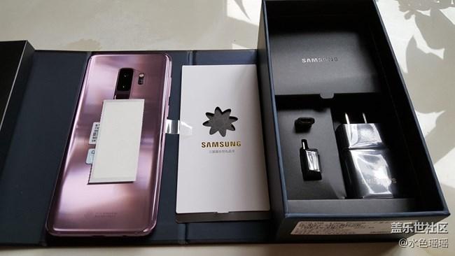 新到三星Galaxy S9+64GB 国行紫色开箱