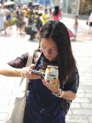 南京路步行街拍小姐姐