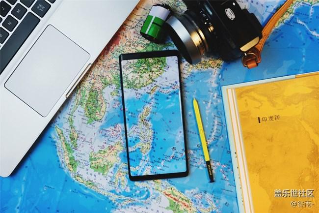 小台灯下的Galaxy Note9开箱