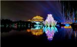 西安大唐芙蓉园夜景图