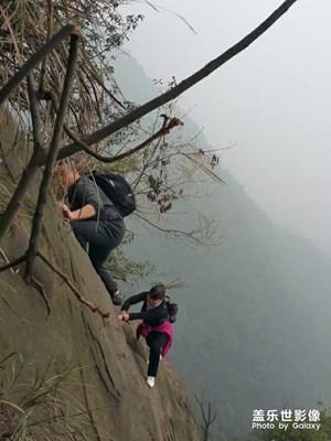 爬山的乐趣在于坚持不懈的努力