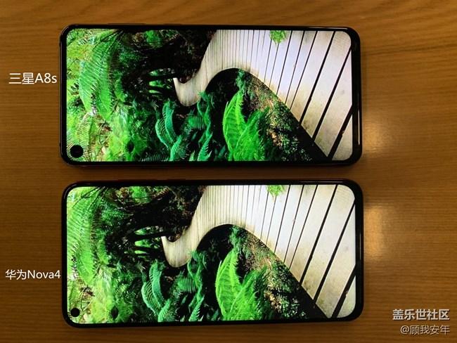 三星A8s与华为Nova4屏幕色彩比较 谁更好?