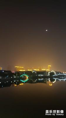 月是故乡明-金鸡湖随拍