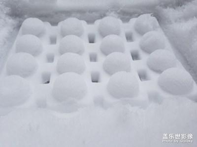 江北小镇雪景