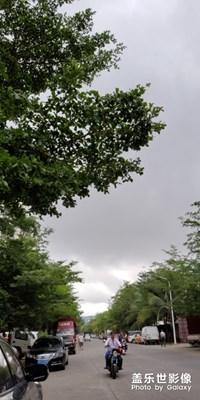 今早三亚的天空