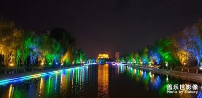 那晚悠闲看河畔