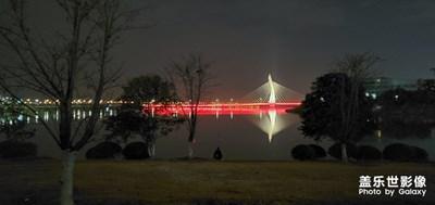 钓鱼时候拍的,开不开夜景区别好大啊