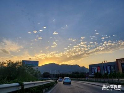 上下班途中北京的风景