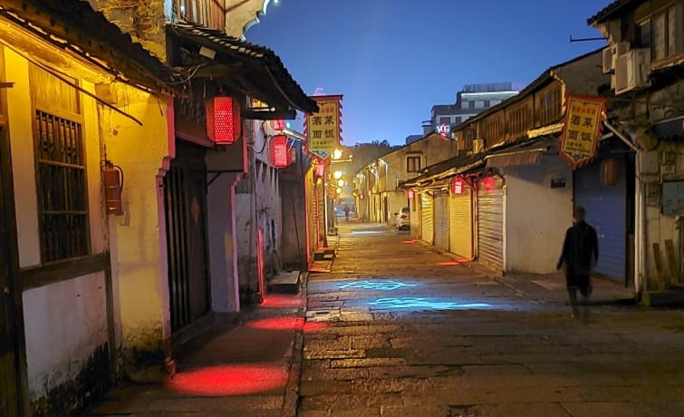 江南古城绍兴历史街区夜景