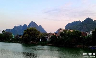 远距离拍摄的山