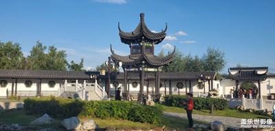 河北省张家口市涿鹿县滨河公园美景