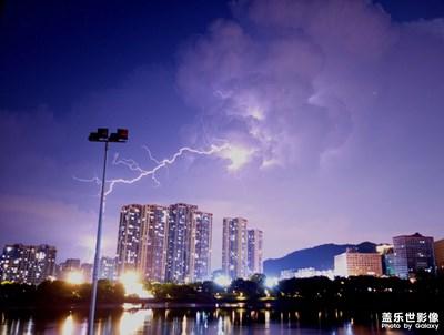 S21镜头里的中秋夜福州闪电