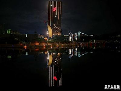 夜景下城市的繁华